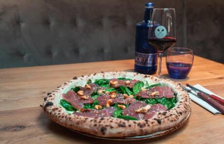 60 seconds Pizza mit Wein